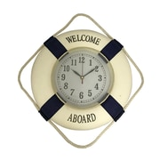 Creative Motion Nautical 'Welcome Aboard' 13'' Wall Clock
