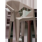 MiEN Stacking Chair; Taupe