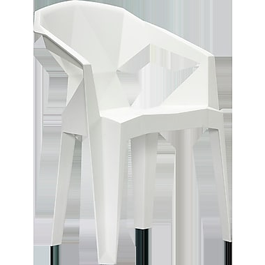 MiEN Stacking Chair; White