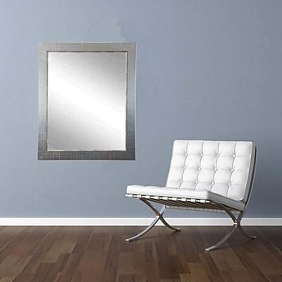 American Value Silver Vintage Vanity Wall Mirror; 35'' H x 31.5'' W x 0.75'' D