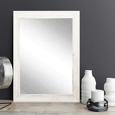 American Value White Texture Vanity Wall Mirror; 38.5'' H x 32'' W x 0.75'' D
