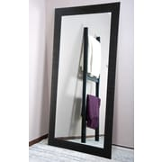 American Value Etched Black Tall Vanity Wall Mirror