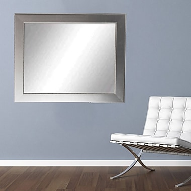 American Value Silver Elements Vanity Wall Mirror; 32'' H x 21.5'' W x 0.75'' D
