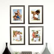 Red Barrel Studio Matted Solid Wood Distressed Picture Frame (Set of 4)