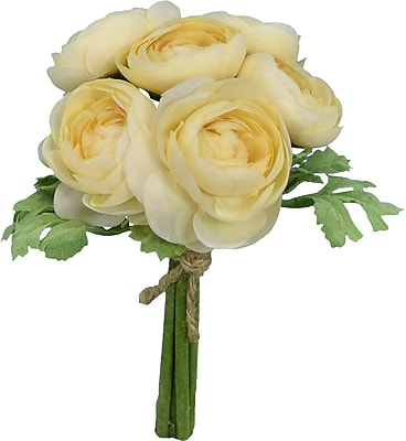 Fantastic Craft Faux Cream Ranunculus Bouquet Floral