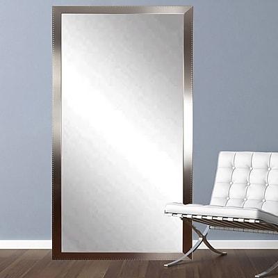 BrandtWorksLLC Embossed Steel Leaning Wall Mirror