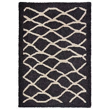 Highland Dunes Bogard Hand-Tufted Charcoal Indoor/Outdoor Area Rug; 3'6'' x 5'6''