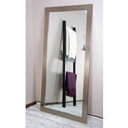 American Value Solitaire Tall Vanity Wall Mirror; Stainless Silver