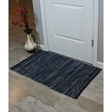Ess Ess Exports Chindi Hand-Woven Blue Denim Indoor Area Rug