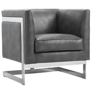Sunpan Modern Club Soho Arm Chair; Grey Nobility