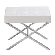 Sunpan Modern Ikon Mercer One Seat Bench; White