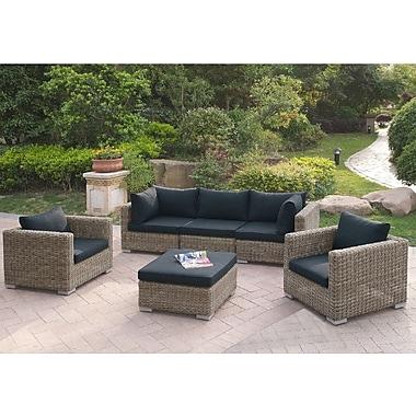 A&J Homes Studio Harvey 6 Piece Patio Sofa Set w/ Cushions