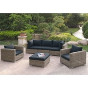 A&J Homes Studio Harvey 6 Piece Patio Sofa Set w/ Cushions