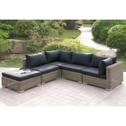 A&J Homes Studio Harvey 5 Piece Patio Sectional Set II w/ Cushions