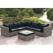A&J Homes Studio Harvey 6 Piece Patio Sectional Set II w/ Cushions
