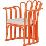 David Francis Furniture Calla Occasional Chair; Citrus Orange