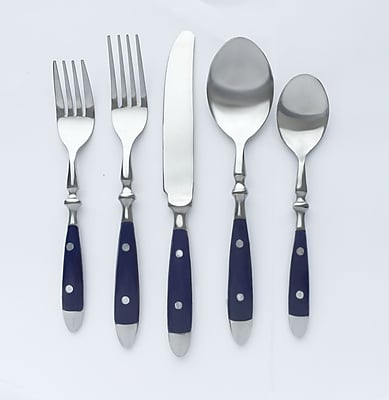 Cambridge Townhouse Navy Blue 20 Piece Flatware Set WYF078278279498