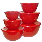 Reston Lloyd Calypso Basics 12 Piece Bowl Set in Red