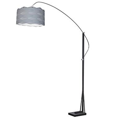 Orren Ellis Hovland 83'' Arched Floor Lamp; Silver