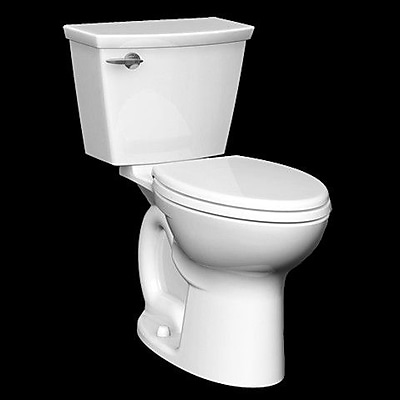 American Standard Cadet 1.28 GPF Round Two-Piece Toilet; Linen