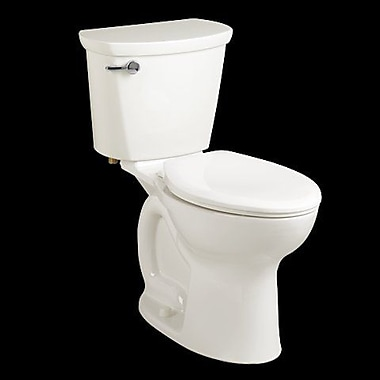 American Standard Cadet 1.28 GPF Elongated Two-Piece Toilet; White