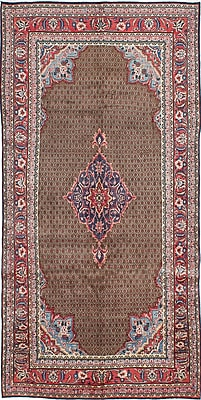 ECARPETGALLERY Koliai Hand-Knotted Brown Area Rug