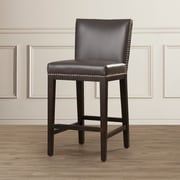 Sunpan Modern 5West 26'' Vintage Bar Stool w/ Cushion; Grey