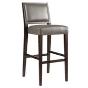 Sunpan Modern 5West 30'' Bar Stool w/ Cushion; Grey