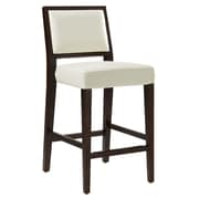 Sunpan Modern 5West 26'' Citizen Bar Stool w/ Cushion; Ivory