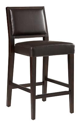 Sunpan Modern 5West 30'' Bar Stool w/ Cushion; Brown