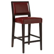 Sunpan Modern 5West 26'' Citizen Bar Stool w/ Cushion; Oxblood