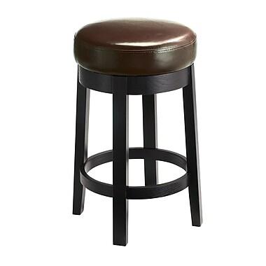Sunpan Modern 5West 26'' Cedric Swivel Bar Stool w/ Cushion; Brown