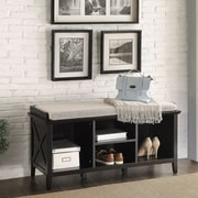 Homestyle Collection Callie Wood Storage Entryway Bench