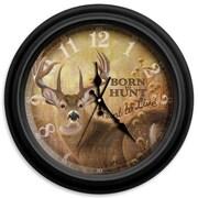 ReflectiveArt Classic Wildlife 16'' Born to Hunt Wall Clock