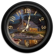 ReflectiveArt Classic Wildlife 16'' Tranquility Wall Clock