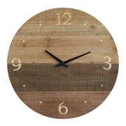 Creative Co-Op Terrain Round Wood Laser Cut 22'' Wall Clock