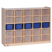 Steffy 25 Compartment Cubby wtih Casters; Clear