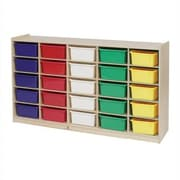 Steffy 25 Compartment Cubby wtih Casters; Multi-Color