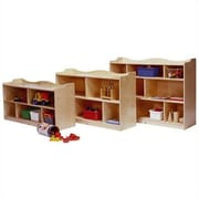 Steffy Scalloped Toddler 5 Compartment Shelving Unit w/ Casters; 24'' H