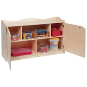Steffy Scalloped Toddler 5 Compartment Classroom Cabinet w/ Casters; 24'' H