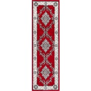 Well Woven Ash Yonderhill Traditional Red Indoor Area Rug; Runner 2'3'' x 7'3''