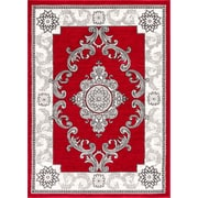 Well Woven Ash Yonderhill Traditional Red Indoor Area Rug; 5'3'' x 7'3''