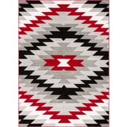 Well Woven Ash Navajo Southwest Red Indoor Area Rug; 5'3'' x 7'3''