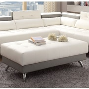 Infini Furnishings New Rochester Ottoman; White/Gray