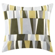 Ink + Ivy Lars Embroidered Throw Pillow; Green