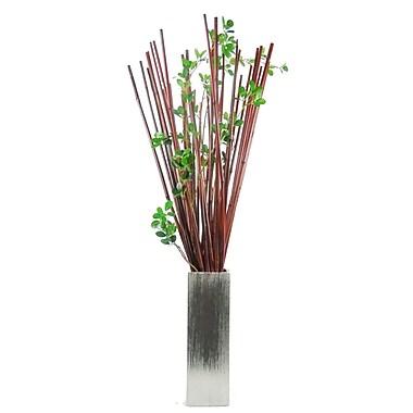 Creative Branch Natural Bamboo/Ficus Leaf Stem Plant in Decorative Vase