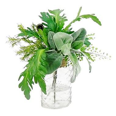 Creative Branch Faux Mixed Garden Cuttings Floral Arrangement in Decorative Vase
