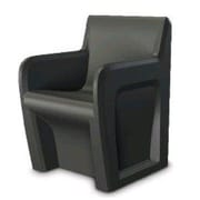 Cortech USA Sentinel Stacking Chair w/ Access Door; Black
