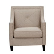 Inspired Home Co. Mckinley Club Chair; Beige