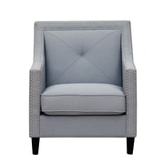 Inspired Home Co. Mckinley Club Chair; Light Gray